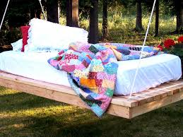 outdoor floating bed easy diy hanging daybed hgtv