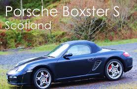 black porsche boxster convertible gopro hero 3 black porsche boxster s 987 driving in scotland