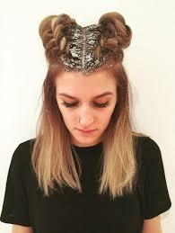 sparkly hair glitter roots hair trend popsugar beauty