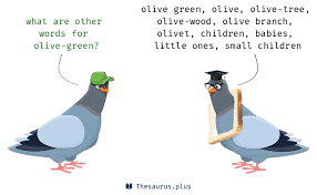 words olive green and olive tree similar meaning