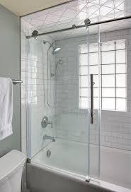 Industrial Shower Door Transitional Moroccan Industrial Bath In Glen Ellyn The Kitchen