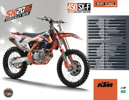 first motocross bike 2016 ktm 450 sx f factory edition reviews comparisons specs