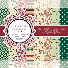 gkd patterned paper pack merry christmas 6 6 24 sheets