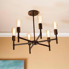 drava 6 light semi flush mount ceiling light southern
