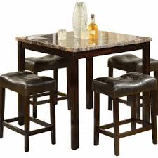 bar top table and chairs kitchen counter high dining set round dining table for 4 round wood