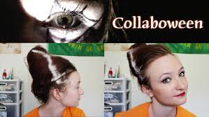 halloween tutorial bride of frankenstein beehive bun and vampy