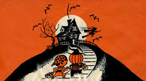 graphic design halloween desktop background neato coolville halloween wallpaper up the hill trick or treat