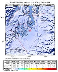 Washington State Earthquake Map by Virtual Lab Tour Pacific Northwest Seismic Network
