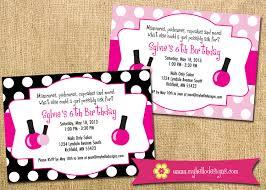 Salon Invitation Card Printable Spa Party Invitation Diy Invite Spa Manicure
