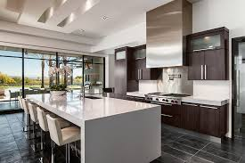 Espresso Cabinets Kitchen Espresso Cabinets Kitchen Kitchen Contemporary With Barstools