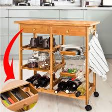 bamboo kitchen carts easy home concepts