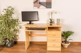 Schreibtisch 1 Meter Breit Kiefer Massiv Vollholz Natur 001 Abmessung 74 X 115 X 55 Cm H X B X