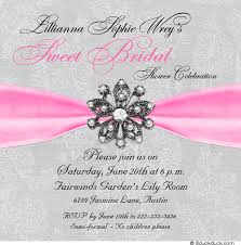 Bridal Shower Greeting Wording Sparkle Bridal Shower Invitation Wedding Design Elegant Jewel