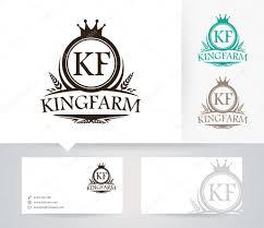 Farm Business Card King Farm Vector Logo With Alternative Colors And Business Card