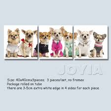 Decorative Pieces For Home Aliexpress Com Buy Pet Dog Canvas Art Pictures Cute Puppy Wall