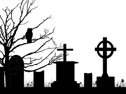 silhouette cemetery tree owl premade background by viktoria lyn on