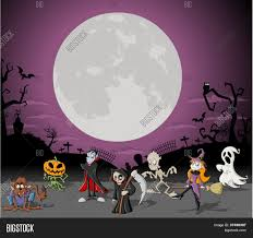 halloween background moon halloween background with full moon over a cemetery with funny