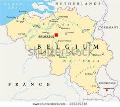 map belguim belgica map belgium political map capital brussels national stock