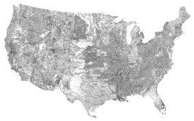 A Map Of The Us A Surprisingly Accurate Map Of The U S Made With 600 000 Bridges
