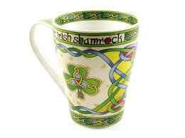 Peacock Mug Amazon Com Irish Coffee Cup Shamrock Mug Cream Color Fine Bone