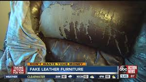 woman u0027s u0027leather u0027 couch peels apart after 3 years abcactionnews