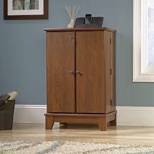 sauder select storage cabinet in white cherry media storage sauder select multimedia cabinet solid wood