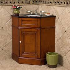 corner bathroom vanity table beige diagonal wall tiles with mahogany corner bathroom vanity set