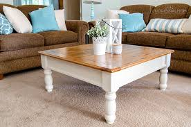 Stained Coffee Table Farmhouse Coffee Table Makeover Unoriginal Mom