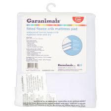 Fitted Crib Mattress Pad Garanimals Fitted Fleece Crib Mattress Pad Walmart