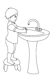 Hand Washing Coloring Sheet - hand washing is important thing coloring pages coloring sun 16962