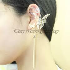 left side earring left side 2016 charms butterfly no piercing earring for women