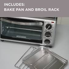 Under Cabinet 4 Slice Toaster by Amazon Com Black Decker To1313sbd 4 Slice Toaster Oven Includes
