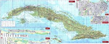 Map Of Canada With Cities by Cuba Maps Maps Of Cuba