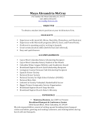 Job Responsibilities Resume by Internship Resume