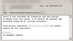 message d absence bureau les étonnants messages d absence du bureau 7sur7 be