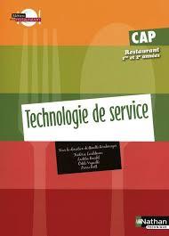 technologie cuisine cap livre technologie de service cap restaurant 1re et 2e annee eleve
