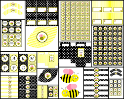 bumble bee decorations bumble bee theme black printable party package party