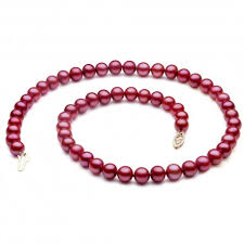 pearl necklace photos images Pwk037pl 18 quot freshwater cranberry red pearl necklace 7 7 5mm aaa jpg