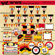 wwe decorations printable wrestling party by mimisdollhouse