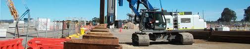 hammer u0026 steel abi mobilram u0026 excavator mounted pile driving
