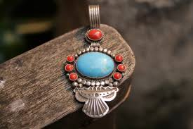turquoise opal native american pendants u0026 brooches coral turquoise opal jet