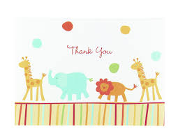 thank you cards baby shower hortense b hewitt jungle animals thank you cards set