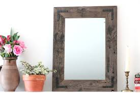 mirrors rustic wooden wall mirrors rustic wood framed wall