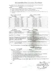 2013 exam date sheet for b r ambedkar bihar university htcampus
