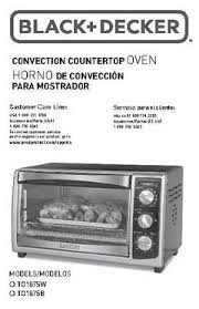 Black Decker Toaster Oven Replacement Parts Black Decker Convection Toaster Oven Toaster To1675b Walmart Com