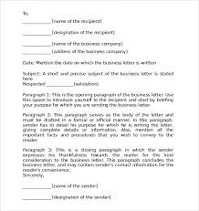 business letter format example format