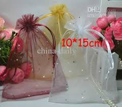 organza gift bags free ship 10 15cm mixed dots organza voile jewelry bag gift bags