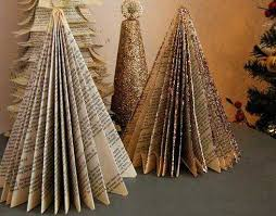 11 alternative tree designs made with books miniature