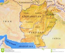 Kabul Map Geographic Map Of Afghanistan And Pakistan With Important Cities