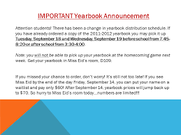yearbook prices yearbook announcement slide greenfield central high school